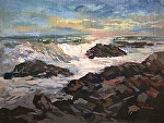 Morning Breakers by Dennis Poirier Oil ~ 9 x 12