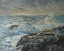 Wind and Waves by Dennis Poirier Acrylic ~ 16 x 20