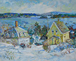 Winter at StoningtonME by Dennis Poirier Oil ~ 16 x 20
