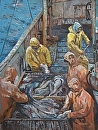 Rainy Day Fishermen by Dennis Poirier Oil ~ 24 x 18