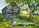 The Garrison House- YorkME by Dennis Poirier Oil ~ 9 x 12