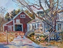 Maine Farm in Spring by Dennis Poirier Oil ~ 12 x 16