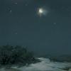 Winter Gibbous Moon