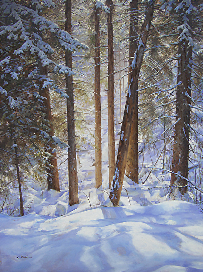 Woodland Series No.1 - Winter Ravine - Oil