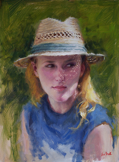 Straw Hat - Oil