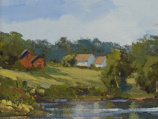 Farm Reflections by Carolyn Walton Oil ~ 6 x 8