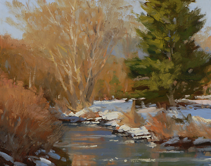 Winter Sun by Carolyn Walton Oil ~ 11 x 14