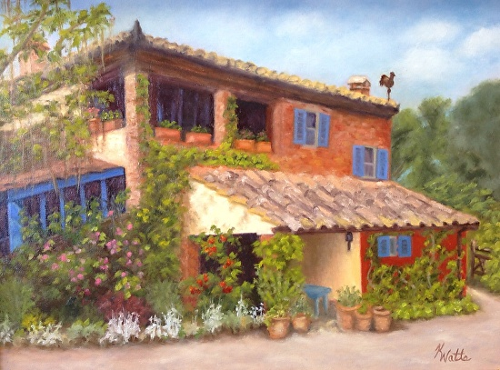 """Tuscan Farmhouse"" - Oil"