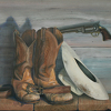 "Standard-Equipment by Pete Quaid Oil ~ 24"" x 30"""