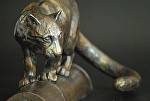"Clouded Leopard by tucker bailey Bronze ~ 9.25"" x 17"""