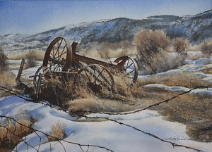 Upper Ranch by Robert McFarland Watercolor ~ 11 x 15