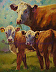 """""""Jodi'e Cows Have Come Home"""" by Sarah J. Webber Fine Art"""