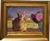 """A Desert Friend"" - Custom gold frame by Sarah J. Webber Fine Art"