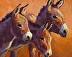 """Donkey Divas"" by Sarah J. Webber Fine Art"