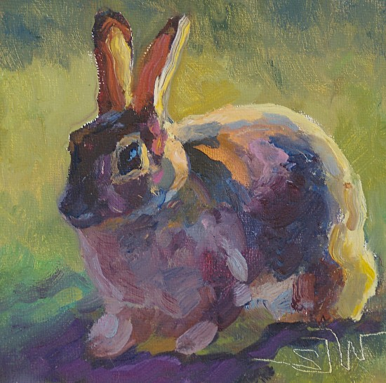 """Bitty Bunny II"" - Oil"
