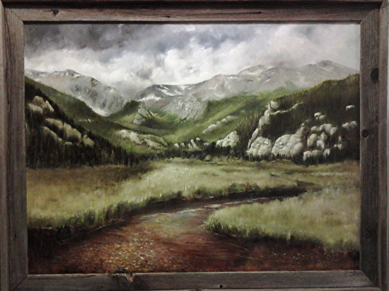 Receeding Storm at Moraine Park, Rocky Mountain National Park - Estes Park, Colorado - Oil