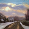"The Road Home - 12 x 16"" oil on canvas"