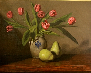 Tulips and Pears by Christine Marx Oil ~ 16 inches x 20 inches