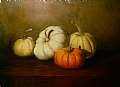 Fall pumpkins by Christine Marx Oil ~ 9 inches x 12 inches