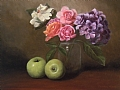 Hydrangea with Green Apples by Christine Marx Oil ~ 12 inches x 16 inches