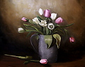 Spring Bouquet by Christine Marx Oil ~ 20 inches x 16 inches
