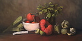 "Salsa! Oil on canvas - 12 x 24"" by Christine Marx Oil ~ 12 inches x 24 inches"