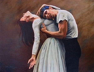 Rehearsal by Jean Miller Harding Oil ~ 24 x 30