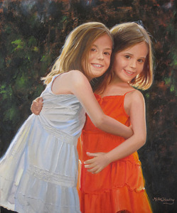 "The Twins by Jean Miller Harding Oil ~ 24"" x 20"""
