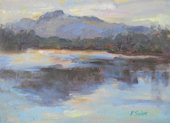 View from Paul Smith's by Vianna Szabo Oil ~ 6 x 8