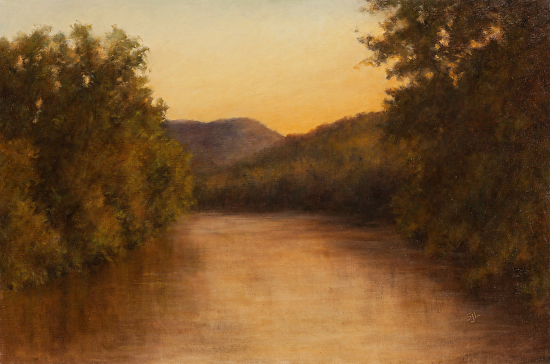 Evening on the Root River - Oil