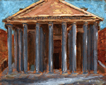 """Pantheon"" study in Rome by Vince Ornato Jr. Oil ~ 8 x 10"