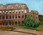 """The Coliseum"" study in Rome by Vince Ornato Jr. Oil ~ 8 x 10"
