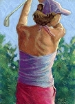 """Katja Dammann"" by Vince Ornato Jr. Pastel ~ 11 x 8.5"