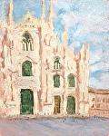 """""""Milan Duomo"""" by Vince Ornato Jr. Oil ~ 10 x 8"""