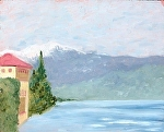 """On Lake Garda"" by Vince Ornato Jr. Oil ~ 8 x 10"