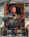 """Ladies of Labor, World War II"" by Vince Ornato Jr. - Oil"