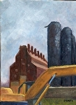 """Industrial Scene"" by Vince Ornato Jr. - Oil"