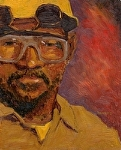 """Factory Man"" by Vince Ornato Jr. - Oil"