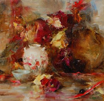 Antique Vase by Laura Robb  ~ 12 x 12