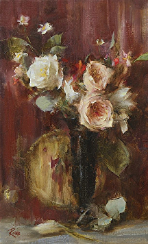 Roses by Laura Robb Oil ~ 16 x 10
