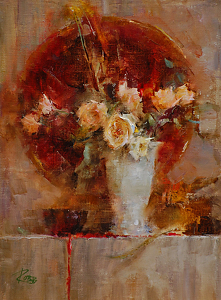 Roses by Laura Robb Oil ~ 11 x 8
