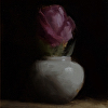 Rose in Small Vase