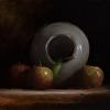 Apples with Upturned Vase