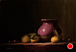 Vase with Early Season Clementines by Neil Carroll Oil ~ 10 x 14