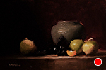 Still Life with Turnips by Neil Carroll Oil ~ 6 x 8