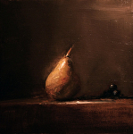 Pear by Neil Carroll Oil ~ 8 x 8