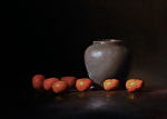 Clementines, Vase and Grape by Neil Carroll Oil ~ 10 x 14