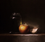 Apple and a Slice by Neil Carroll Oil ~ 8 x 8
