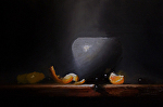 Blue Pot by Neil Carroll Oil ~ 8 x 12