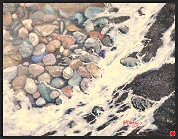 surf tunes by Gigi Genovese Acrylic ~ 11 x 14